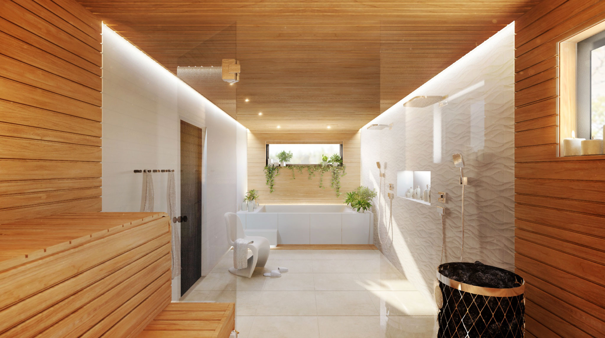 Scandinavian Interior Concept Design Bathroom