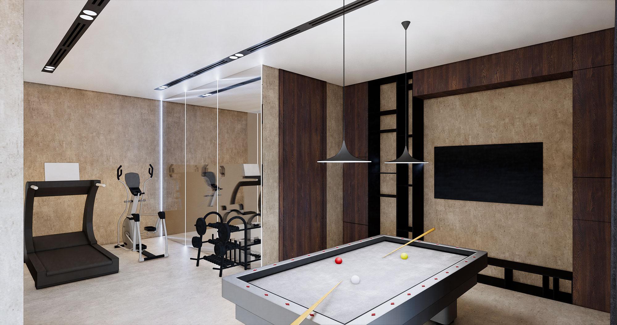 Scandinavian Interior Concept Design Gym