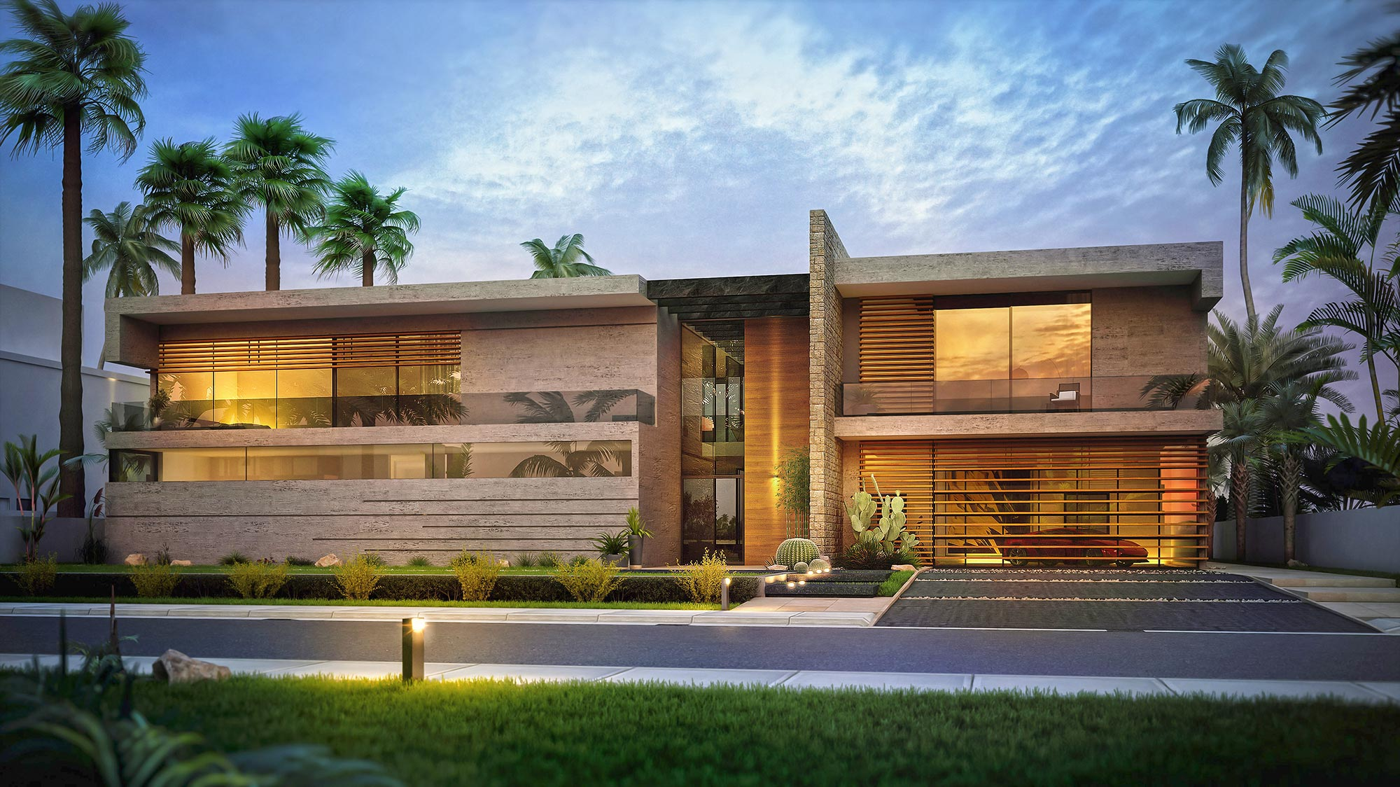 Palm Jumeirah Villa Architectural Concept Design