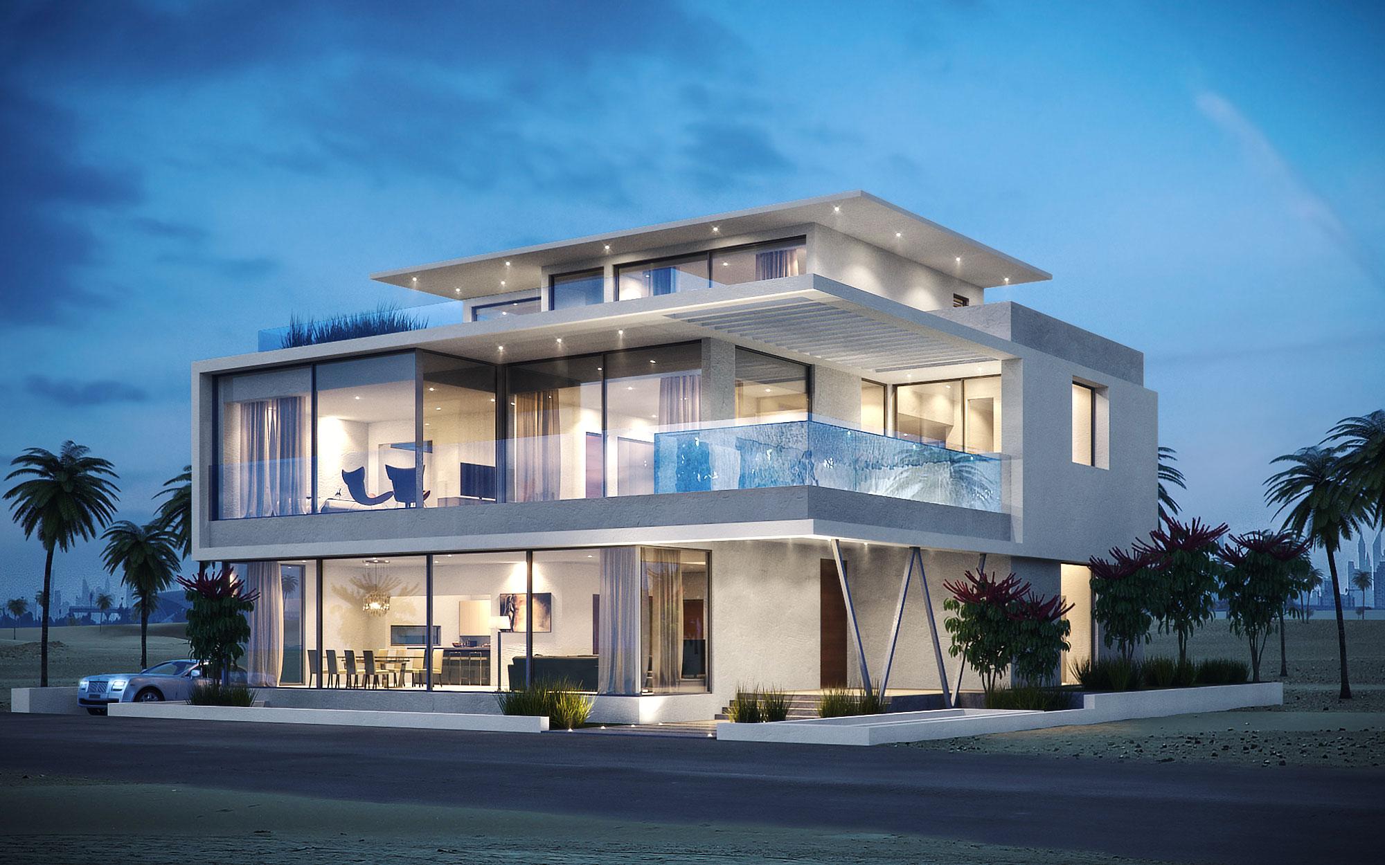 Umm Suqeim Beach Villa Architectural Concept Design