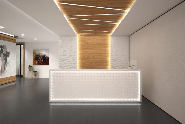 Scandinavian Interior Concept Design Office Front Desk